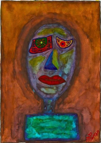 Painting - Totem by Mario MJ Perron