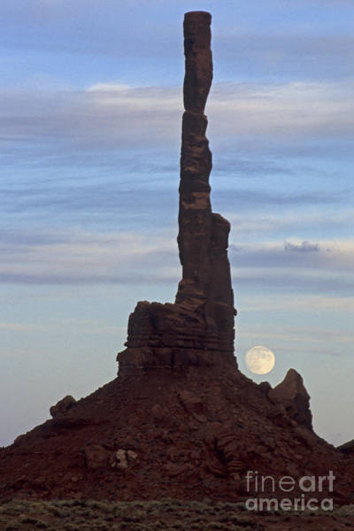 Photograph - Totem Pole  Moonrise by Fred Stearns