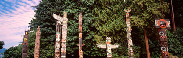 Totem Pole Wall Art - Photograph - Totem Poles In A Park, Stanley Park by Panoramic Images