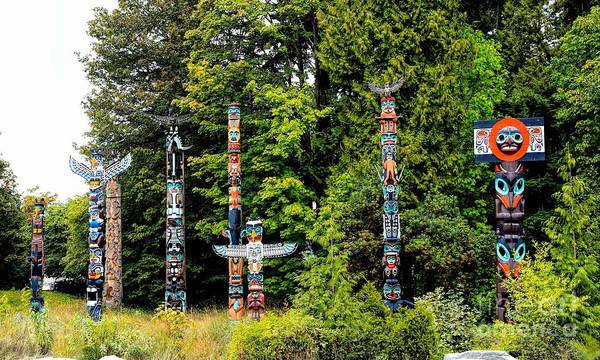 Photograph - Totem Poles by Jon Burch Photography