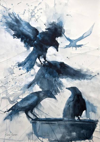Painterly Painting - Totem  by Sarah Yeoman