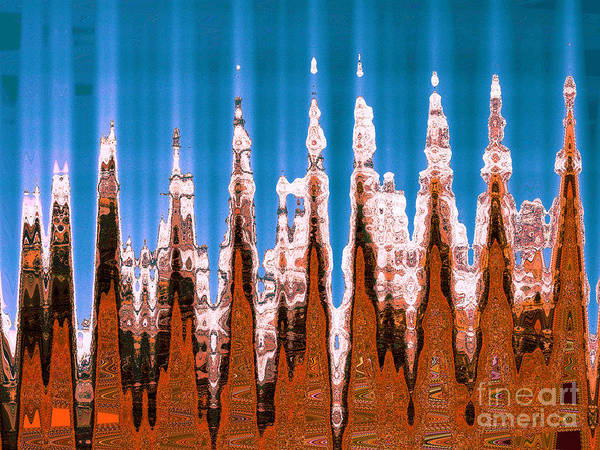 Ice Carving Photograph - Totems by Ann Johndro-Collins