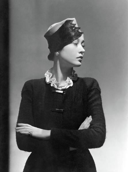 Schiaparelli Photograph - Toto Koopman Wearing A Reboux Hat by George Hoyningen-Huene