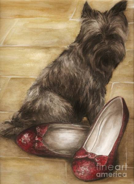 Yellow Brick Road Wall Art - Painting - Toto by Meagan  Visser