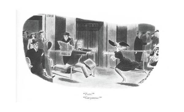 Railroad Station Drawing - Toto! Gargantua! by Richard Taylor