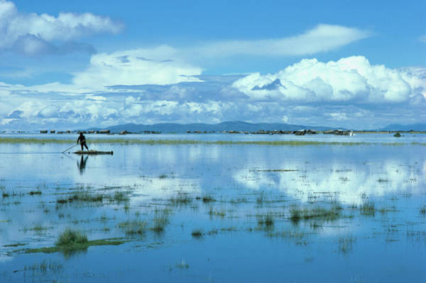 Lakes Region Photograph - Totoro Reeds From Lake Titicaca Are by Eric L. Wheater