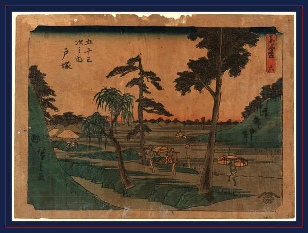 Litter Drawing - Totsuka, Ando Between 1848 And 1854, 1 Print  Woodcut by Utagawa Hiroshige Also And? Hiroshige (1797-1858), Japanese