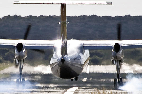 Kimberley Airport Photograph - Touch Down by Paul Job