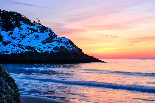 Photograph - Touch Of Snow Singing Beach by Michael Hubley