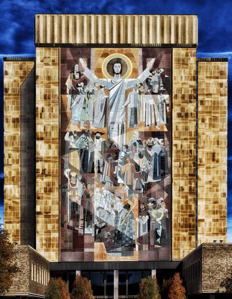 Mosaic Photograph - Touchdown Jesus by Mountain Dreams