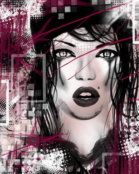 Pink And White Digital Art - Tough Love Pink by Melissa Smith
