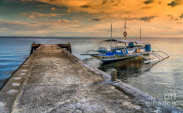 Photograph - Tour Boat Sunset by Adrian Evans