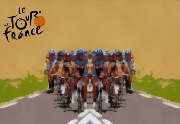 Wall Art - Painting - Tour De France Simple by Dan Sproul