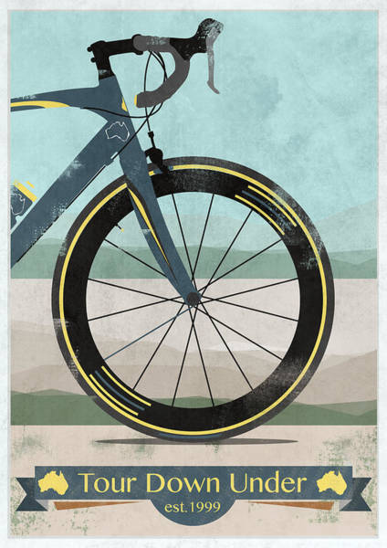 Bike Digital Art - Tour Down Under Bike Race by Andy Scullion