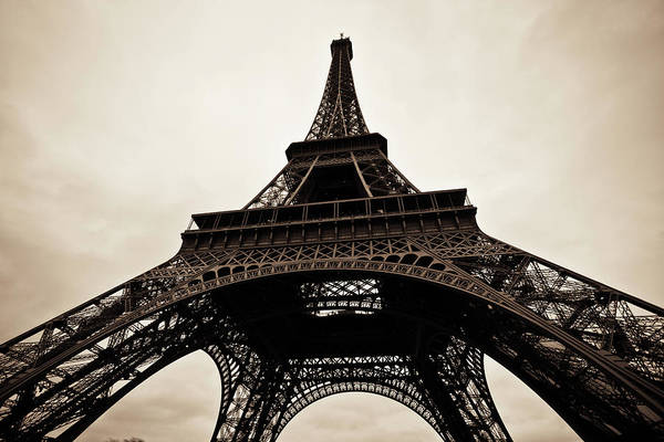 Old People Photograph - Tour Eiffel Of Paris In Black And White by Zodebala