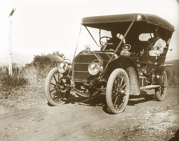 Photograph - Touring Car On The Road California 1906 by California Views Archives Mr Pat Hathaway Archives
