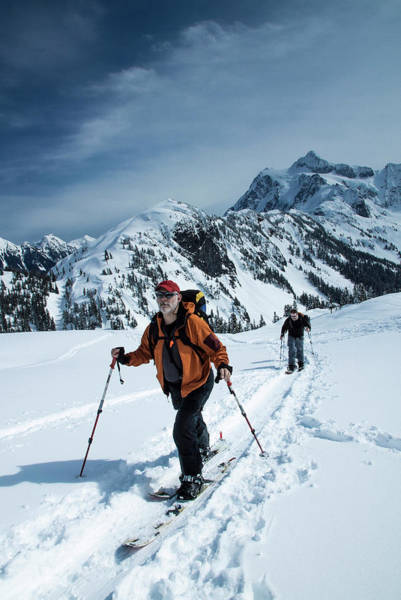 Ski Tracks Wall Art - Photograph - Touring Mt Baker by Terry Schmidbauer