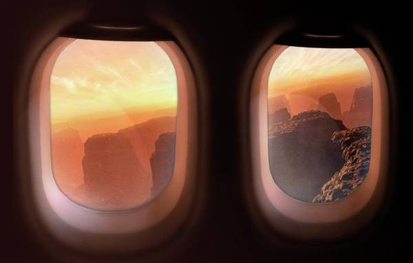 View Through Window Photograph - Tourism Colonies On Mars by Mark Garlick/science Photo Library