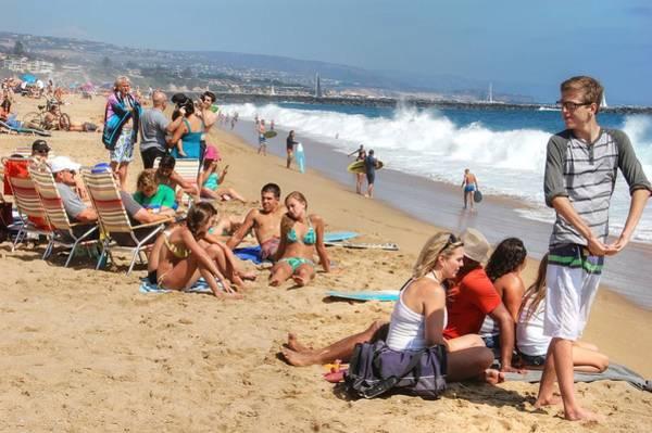 Photograph - Tourist At Beach by Bill Hamilton