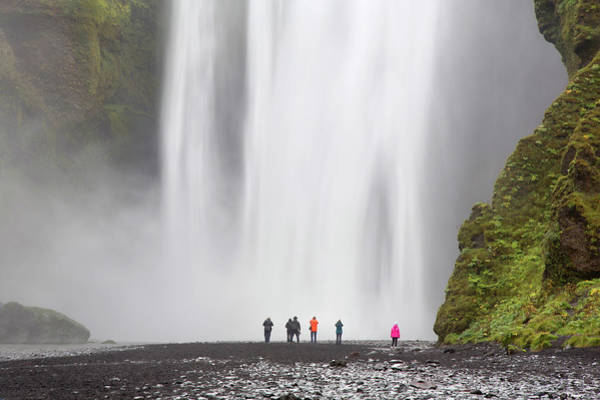 Casual Photograph - Tourist At Waterfall by Grant Faint
