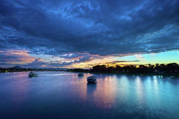 Perfume Photograph - Tourist Boats On Hues Perfume River by Fototrav