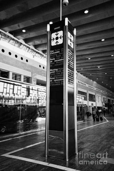 Prat Photograph - Tourist Meeting Point Barcelona El Prat Airport Terminal 2 Catalonia Spain by Joe Fox