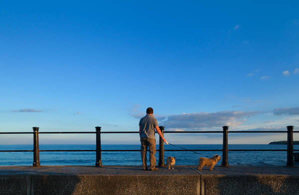 County Waterford Photograph - Tourist On The Promanade, Tramore by Panoramic Images