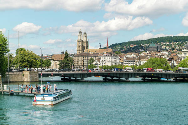 Zuerich Wall Art - Photograph - Tourist Waiting For Boat Tour On Lake by Tamboly Photodesign