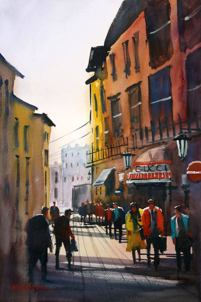 Wall Art - Painting - Tourists In Italy by Ryan Radke