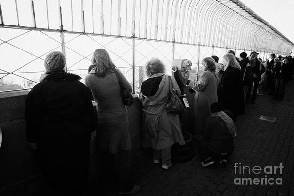 Reaching For The Sky Photograph - Tourists  Look At The View From Observation Deck Empire State Building by Joe Fox