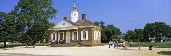 Colonial Williamsburg Photograph - Tourists Near A Courthouse, Duke by Panoramic Images