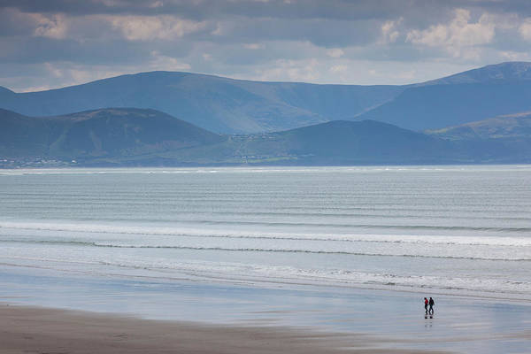 Dingle Peninsula Photograph - Tourists On The Beach, Inch Strand by Panoramic Images