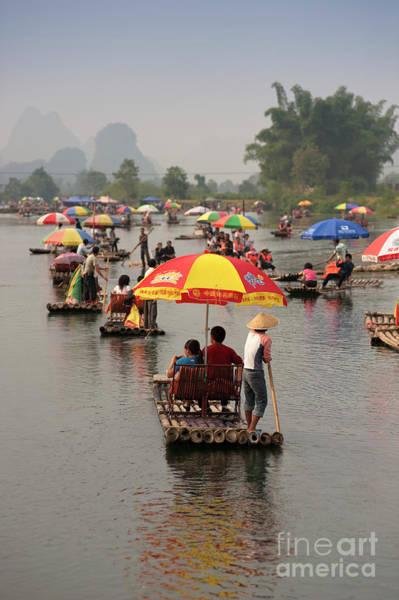 Fox River Wall Art - Photograph - Tourists Taking Boat Trips Along Yulong by Keven Osborne/fox Fotos