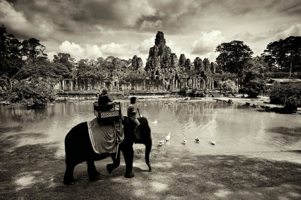 Wall Art - Photograph - Tourists Travel By Elephant by Jim Richardson