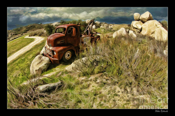 Tow Truck No Where To Go Art Print