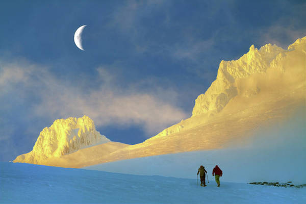 Pair Photograph - Toward Frozen Mountain by William Lee