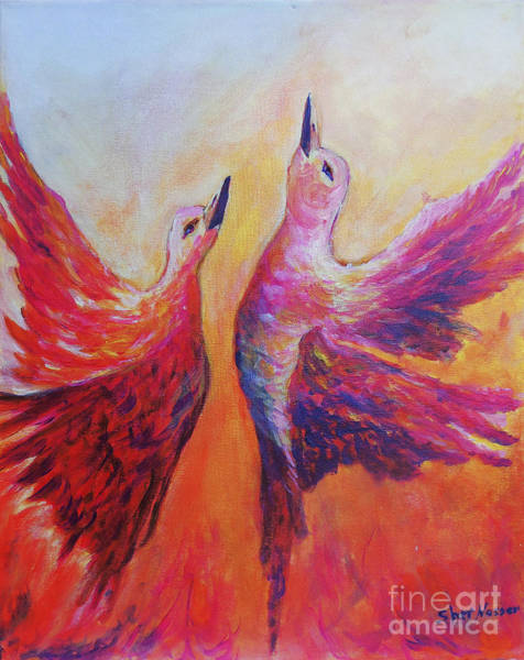 Painting - Towards Heaven by Sher Nasser