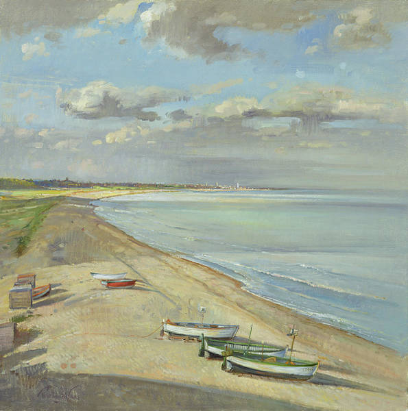 Wall Art - Painting - Towards Southwold  by Timothy Easton