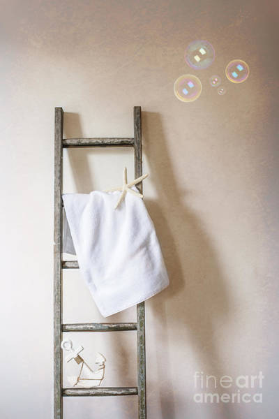 Ladders Photograph - Towel Rail by Amanda Elwell