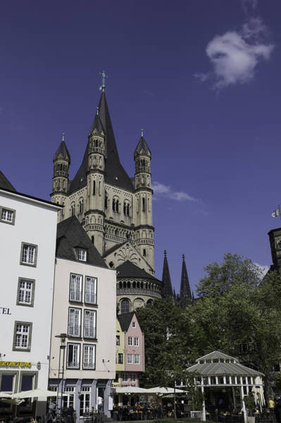 Germania Photograph - Tower And Spire View Cologne by Teresa Mucha