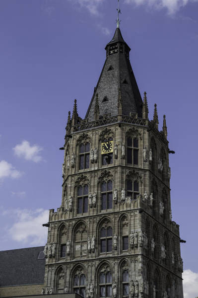 Glockenspiel Photograph - Tower At Historic City Hall Cologne Germany by Teresa Mucha