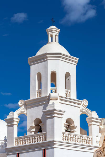Photograph - Tower At Mission San Xavier Del Bac by Ed Gleichman