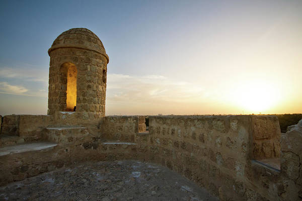 Bahrain Photograph - Tower At The Bahrain Fort Ruins by Universal Stopping Point Photography