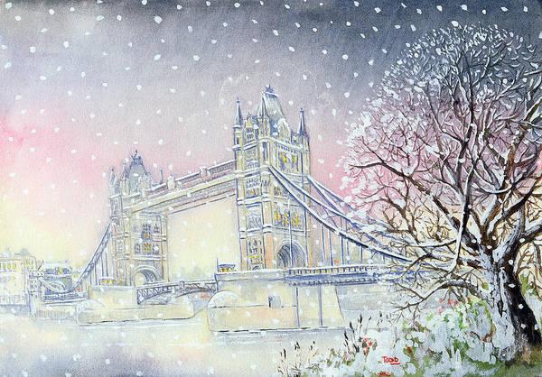 Snowflake Photograph - Tower Bridge by Tony Todd