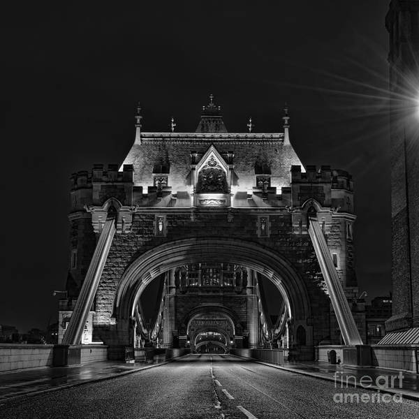 Stamford Bridge Wall Art - Photograph - Tower Bridge Dramatic Mono by Steev Stamford