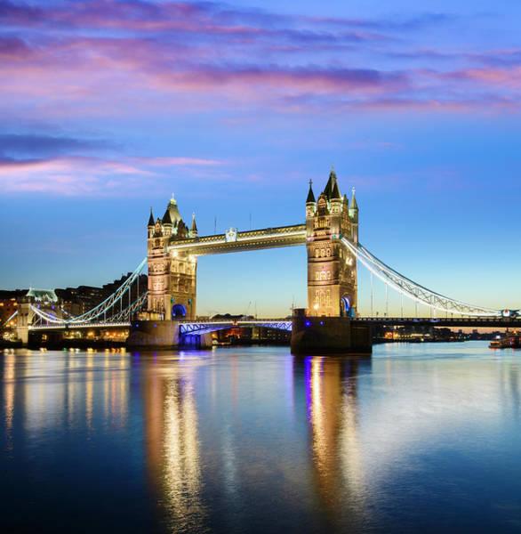 Bridge Photograph - Tower Bridge Located In London by Deejpilot