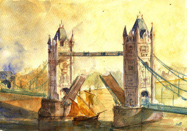 United Kingdom Painting - Tower Bridge London by Juan  Bosco