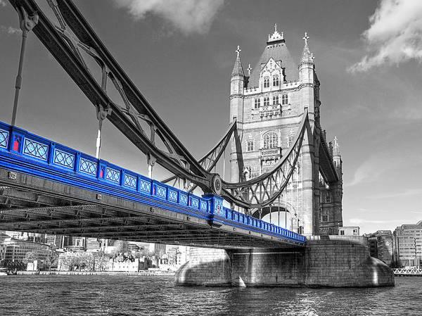 Photograph - Tower Bridge London Selective Color by Gill Billington
