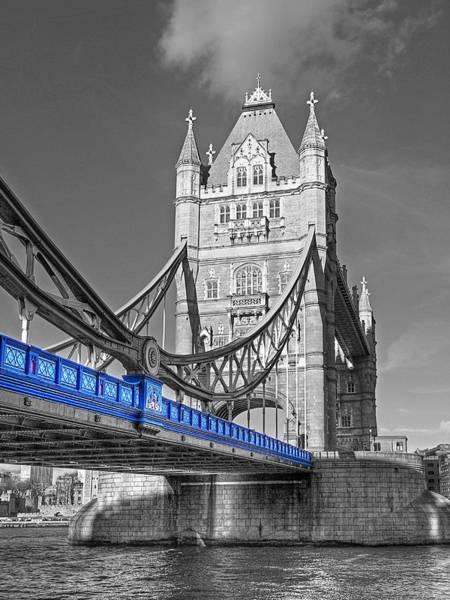 Photograph - Tower Bridge Vertical Selective Color by Gill Billington