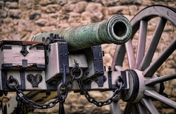 Royal Artillery Wall Art - Photograph - Tower Canon by Heather Applegate